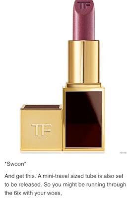 Lips & Boys: Drake inspired Lipstick from Designer Tom Ford