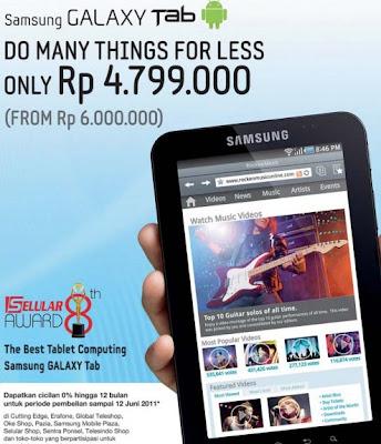 Harga Samsung Galaxy Tab Promo diskon murah