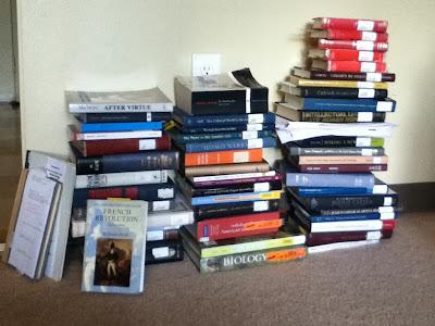 books stack huge