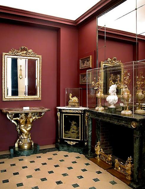 above paint color unknown, via the Louvre; Marie Antoinette's Rooms