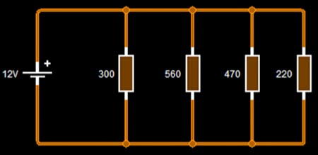 circuito paralelo varias resistencias
