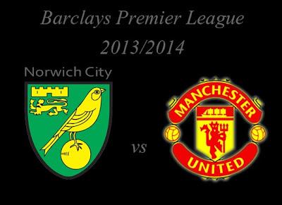 Norwich City vs Manchester United Premier league 2013