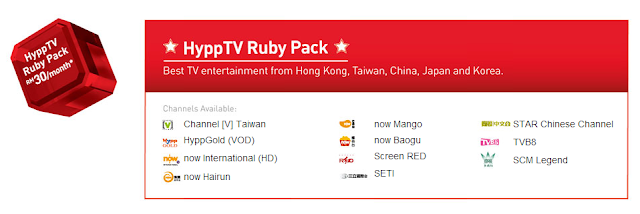 HyppTV Ruby Pack - RM 30 sebulan