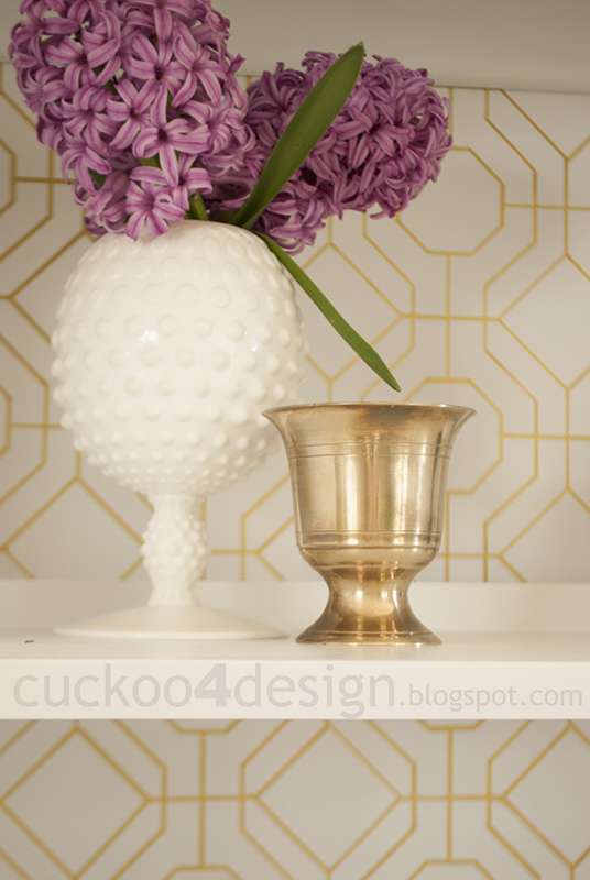 DIY wallpaper in white and gold by cuckoo4design