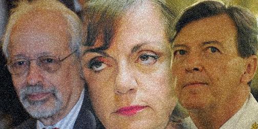 Horacio Verbitsky,  Nilda Garré y César Milani