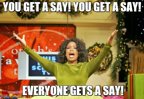 Oprah - you get a...