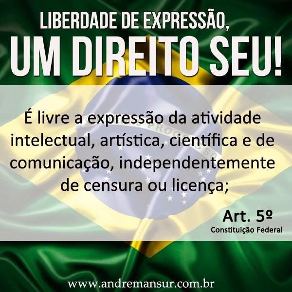 LIBERDADE DE OPINIÃO É VIDA, É DEMOCRACIA