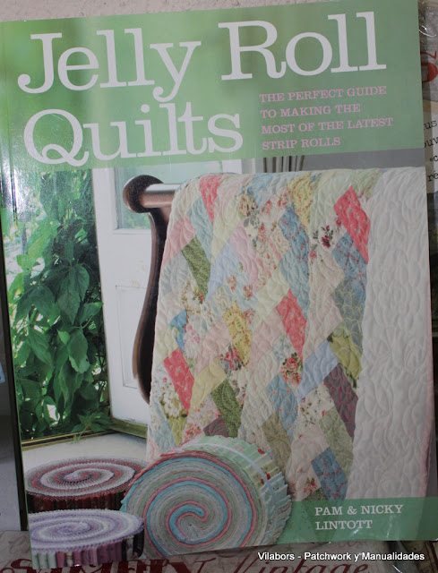 Libros de Patchwork y Quilt (Jelly Roll Quilt de Pam & Nicky Lintott)- Vilabors
