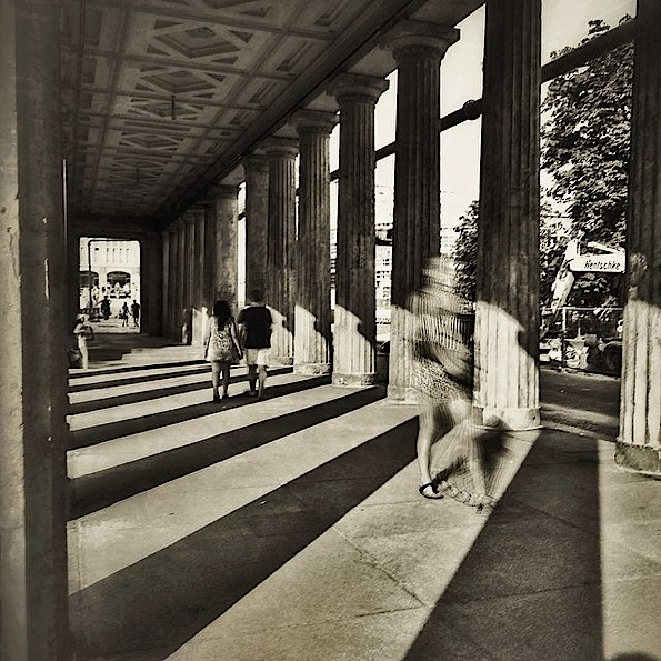 Sunday Stroll Under the Arcade © Karen Axelrad