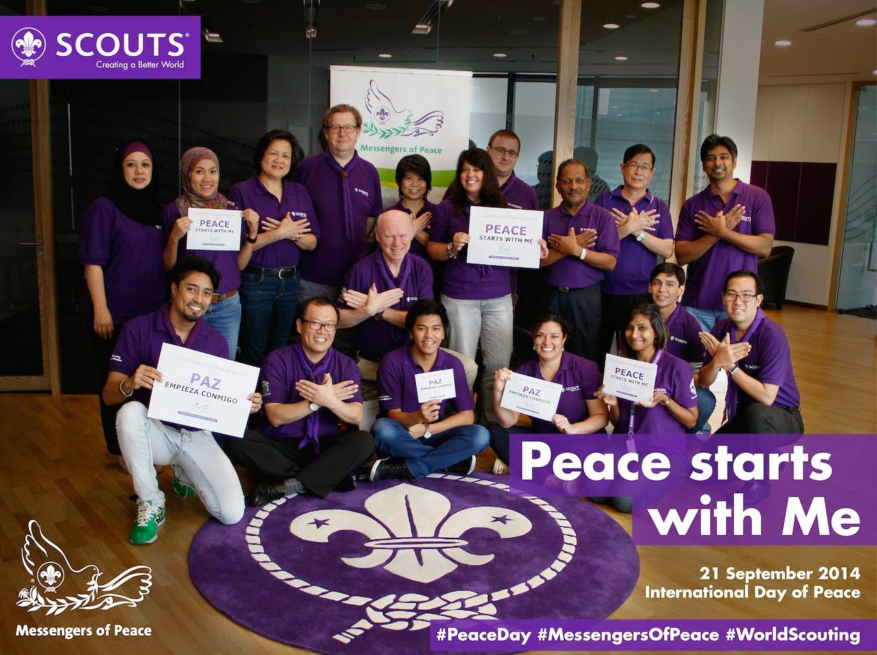the world organization of the scout World organization of the scout movement (wosm) organisation mondiale du mouvement scout (omms) (217 member associations in 164 countries plus palestine, 40 million members, founded 1922.