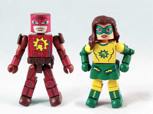 Super - Crimson Bolt and Bolite Minimates