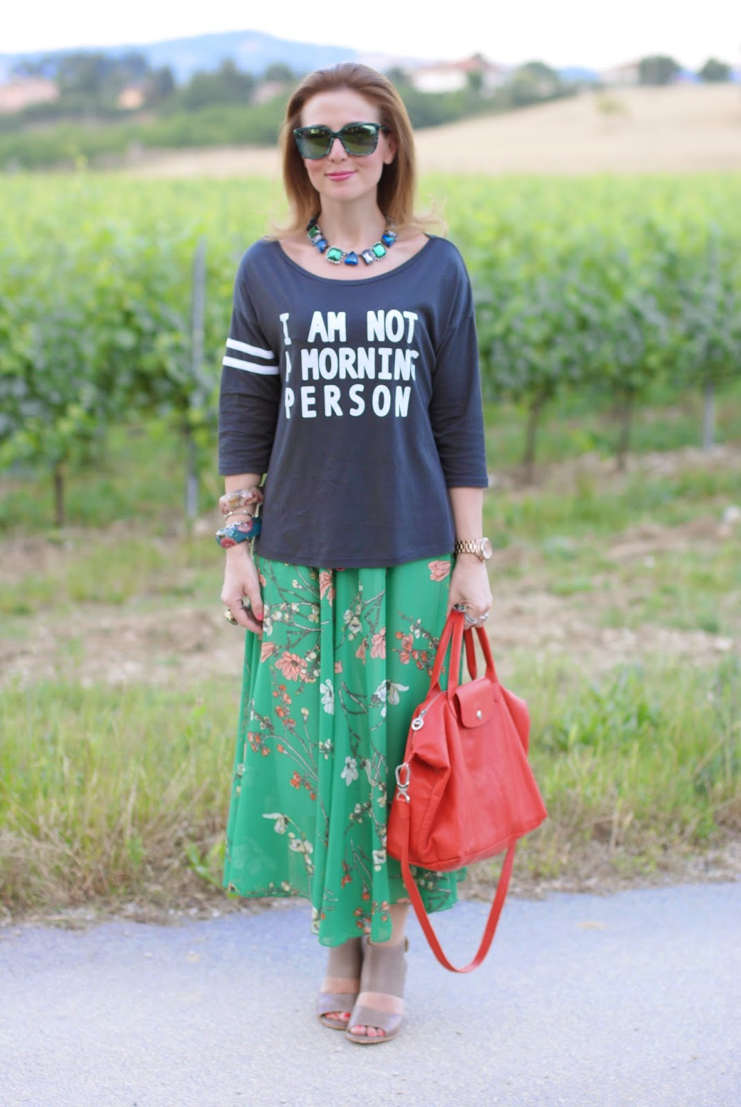 Not a morning person tee, Lemaré shoes, taupe sandals, Fashion and Cookies, fashion blogger