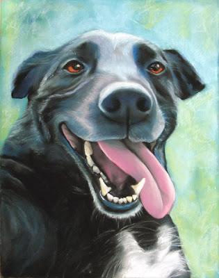 commissioned dog portraits