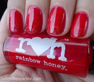 Jelly Glitter Gradient Manicure