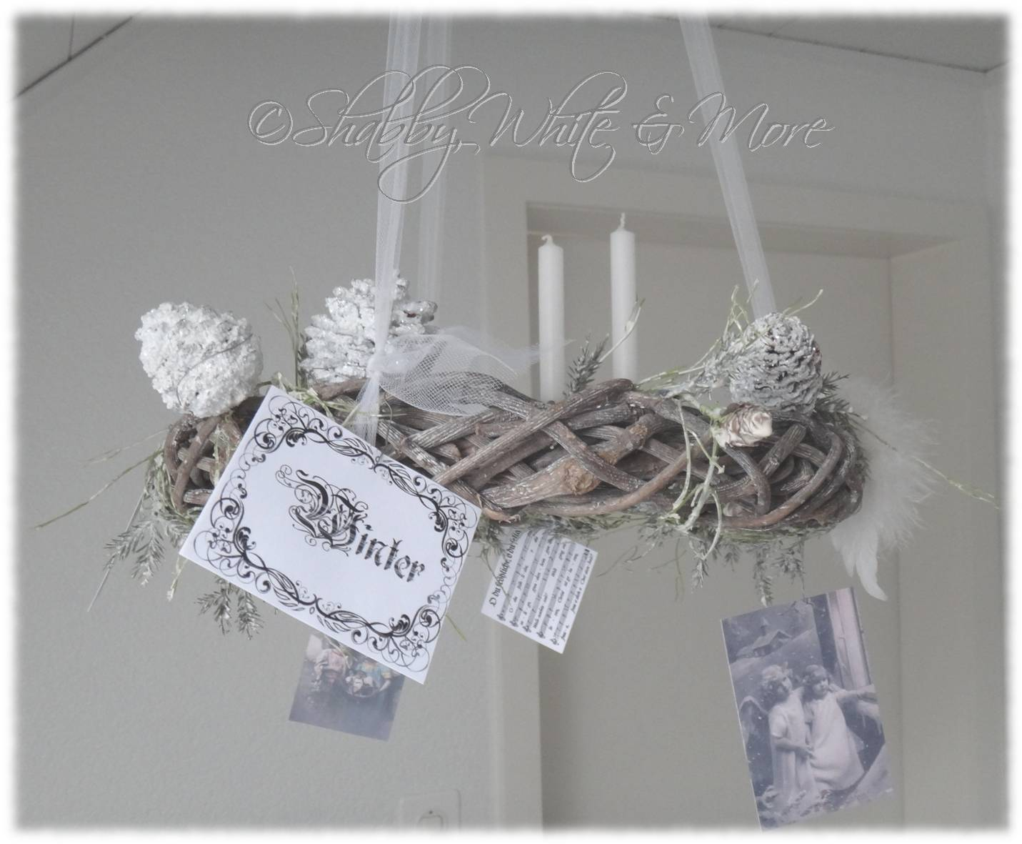shabby white and more eine einfache shabby weihnachstsdeko anleitung. Black Bedroom Furniture Sets. Home Design Ideas