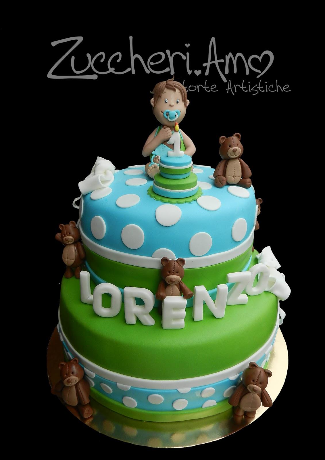 Zuccheri Amo Torta Per Il Primo Compleanno Di Lorenzo