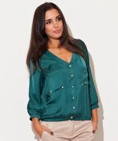 Camasa eleganta, cu maneca lunga, de culoare verde ( )