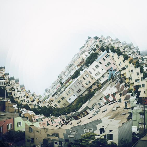 fotografia nicholas kennedy sitton surreal edifícios prédios tortos enrolados