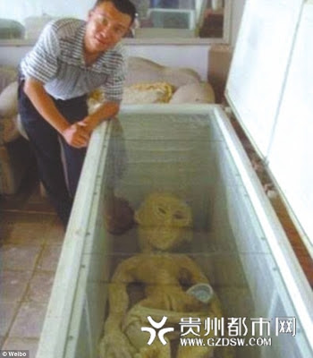 Chinese man Mr. Li claims to have an Alien in his freezer. Pic #1 (Read full post at topicswhatsoever.blogspot.com)