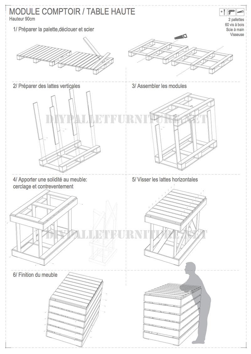 Planos para hacer mostradores for Muebles con palets planos