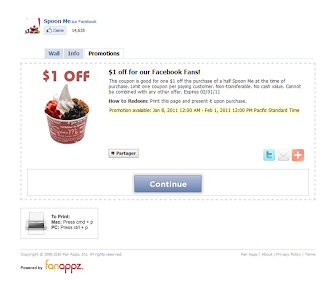 coupons via une application  tierces pour les pages facebook (revolver)