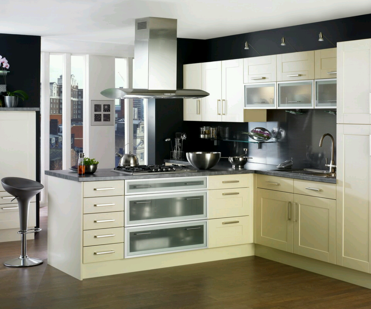 New home designs latest kitchen cabinets designs modern for Kitchen cupboard ideas