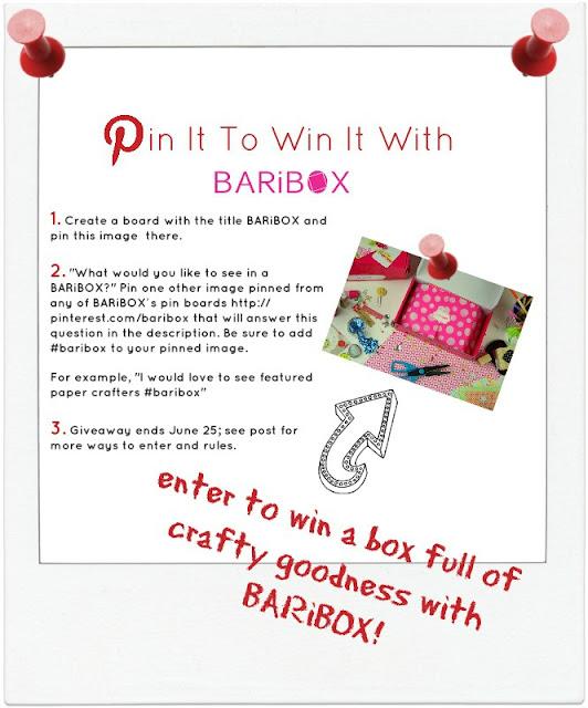 Pin It To Win It Baribox craft box subscription