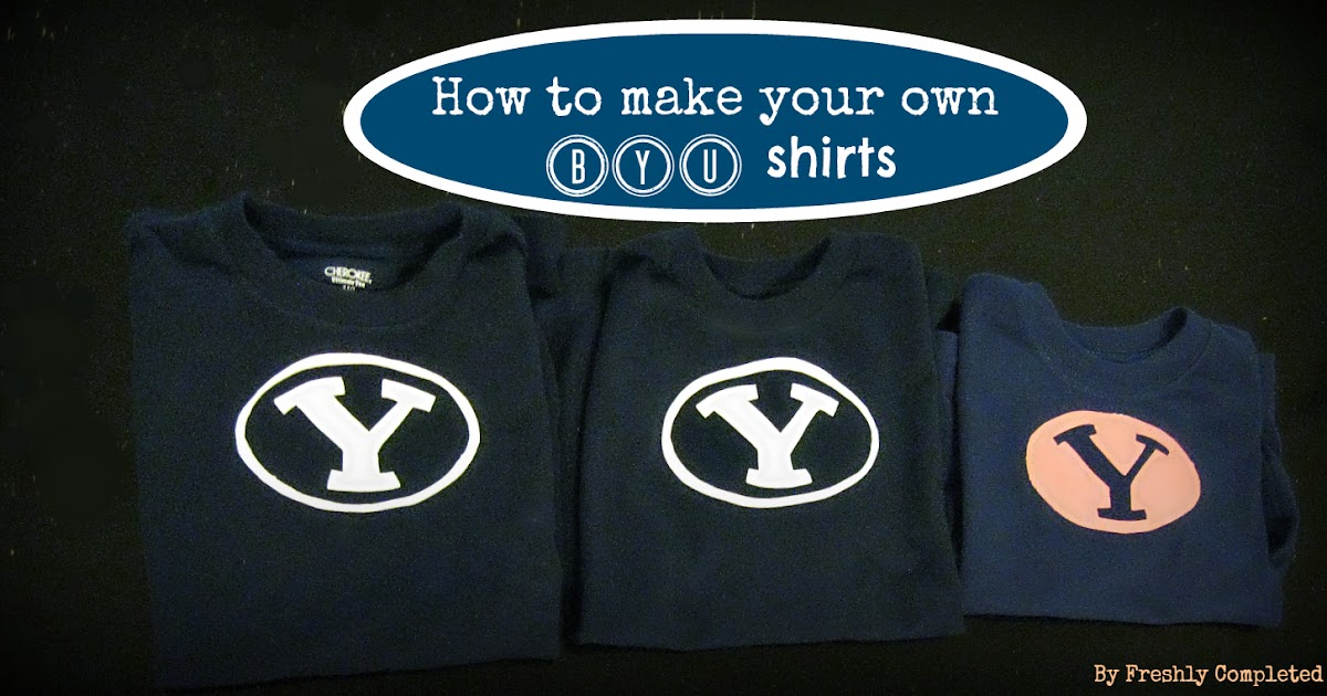 Freshly completed how to make your own byu shirts for How to print your own shirt