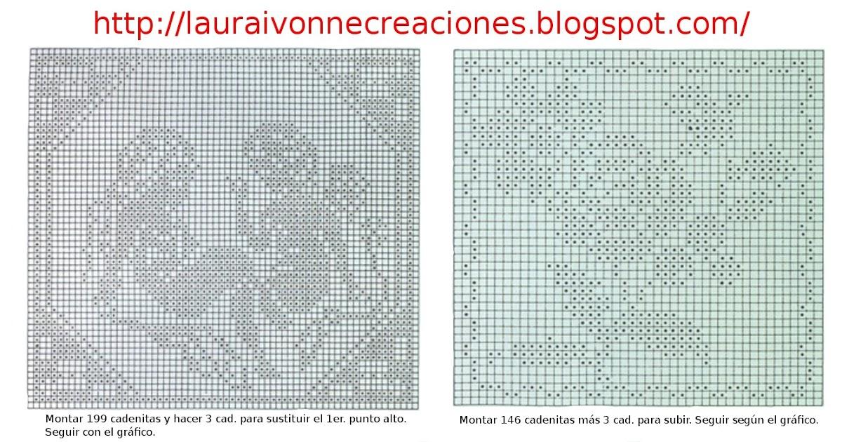 Laura Ivonne Creaciones: Viernes del Filet: Más ideas para tejer y ...