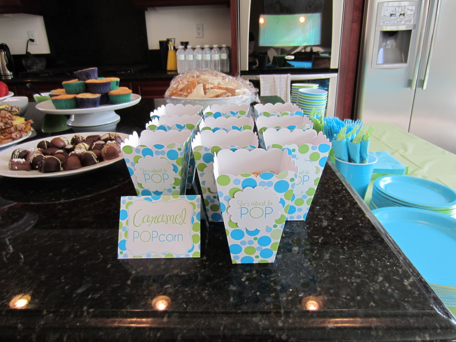 Park Talk Printables She s About to POP Baby Shower