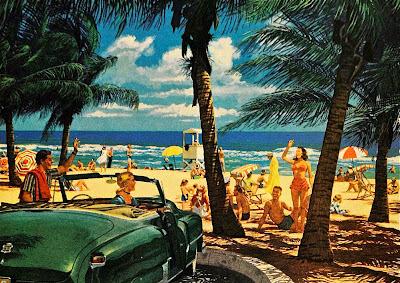plage vintage 50 's 60's beach