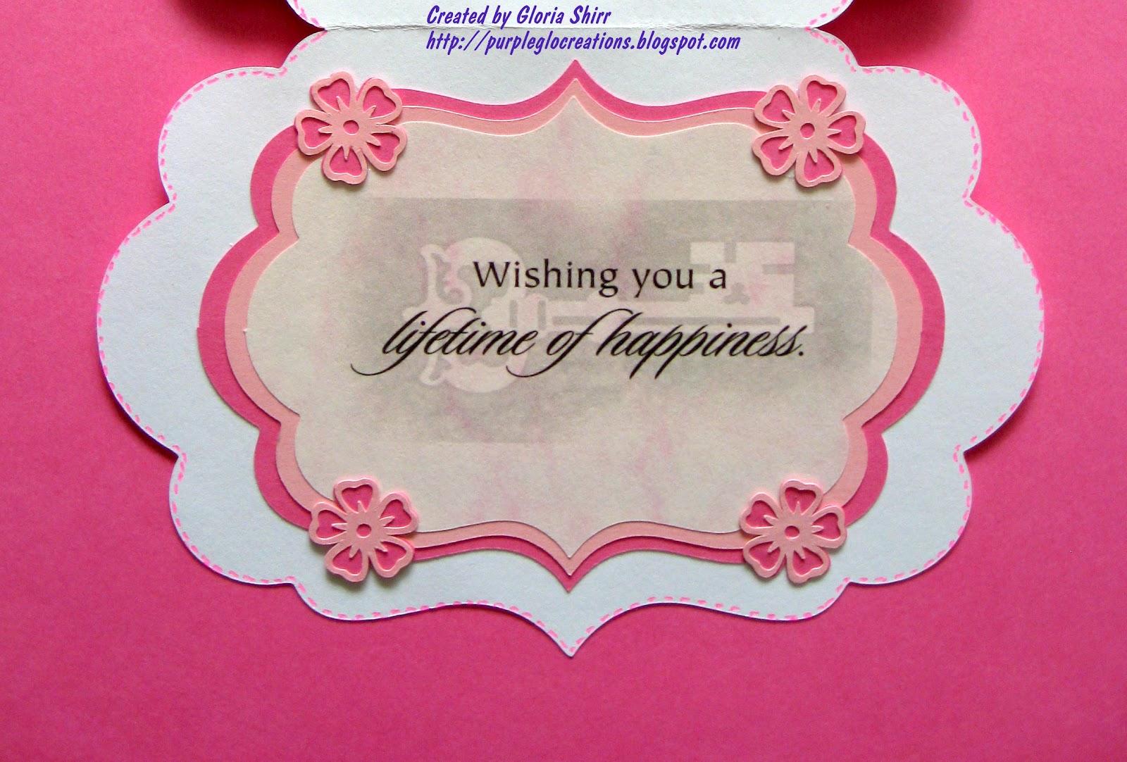 Purpleglo creations happy anniversary card using cricut