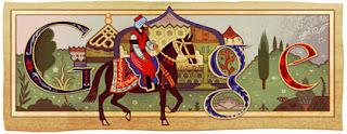 Evliya Çelebi'nin doğum gününde Google Logosu