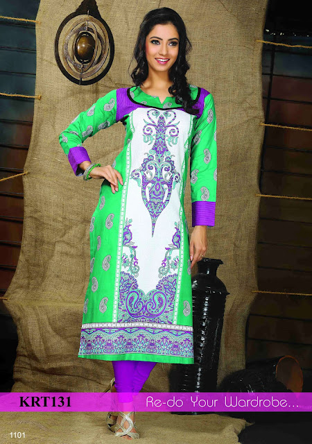 Buy Online Cotton Printed Long Kurti – Wholesale