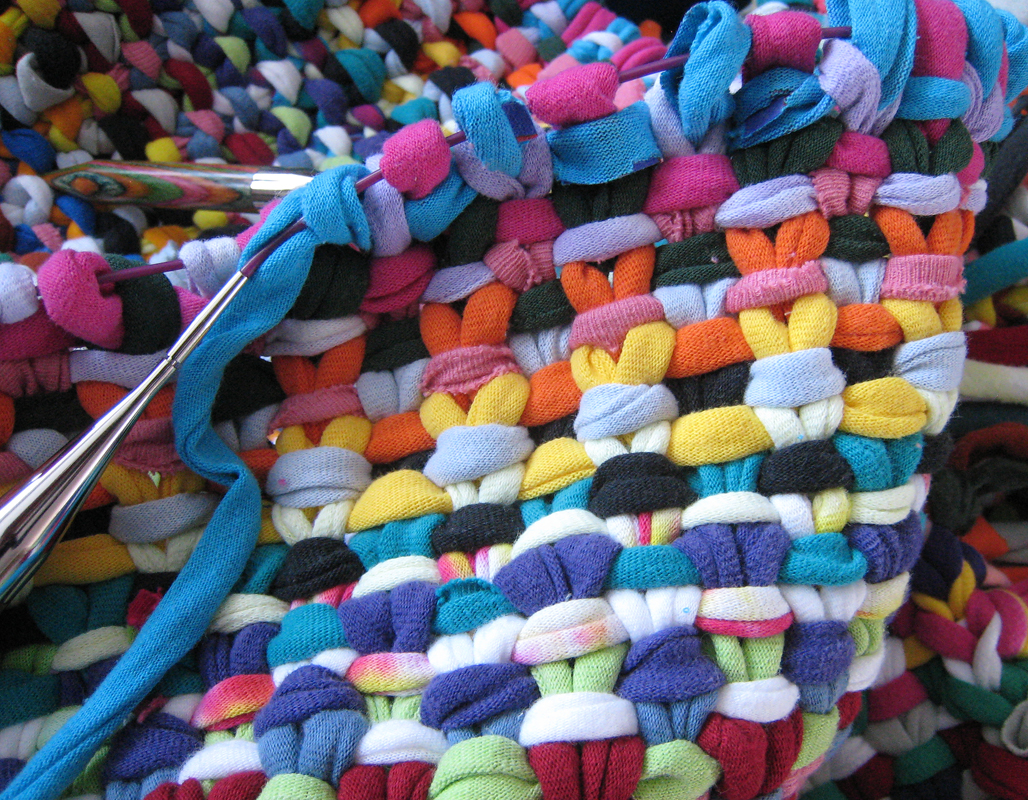 How To Knit A Rug Knit Rag Rug Rugs Ideas