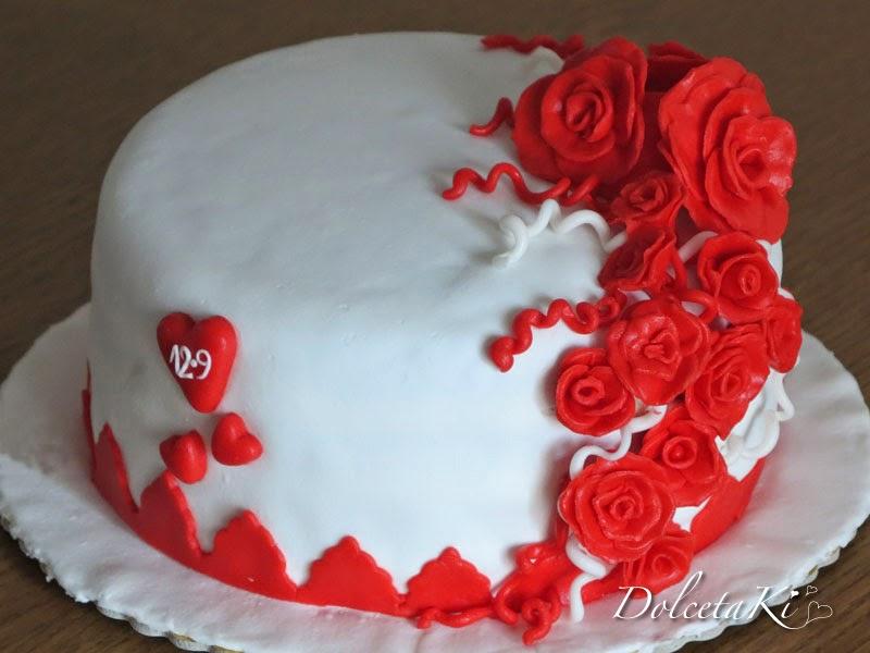 torta roselline e cuoricini