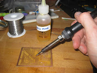 TInning PCB by hand using home made rosin flux