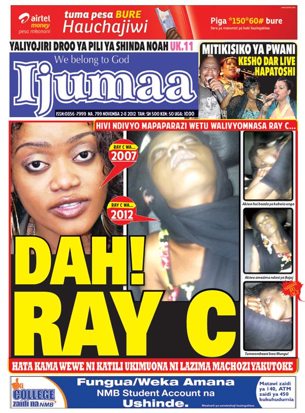 PICHA ZA RAY C ALIVYOATHIRIKA NA MADAWA YA KULEVYA!!!