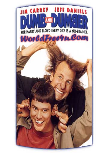 Poster Of Dumb & Dumber (1994) In Hindi English Dual Audio 300MB Compressed Small Size Pc Movie Free Download Only At worldfree4u.com
