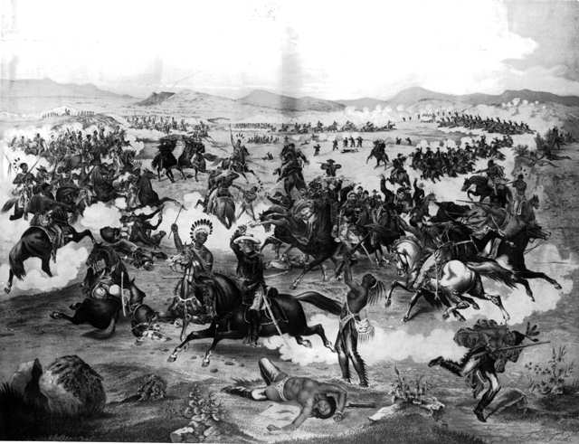 the battle of lieutenant george custer against the sioux indians George armstrong custer he was to become an indian fighter against cheyenne warriors in other description of custer's last battle at the little.