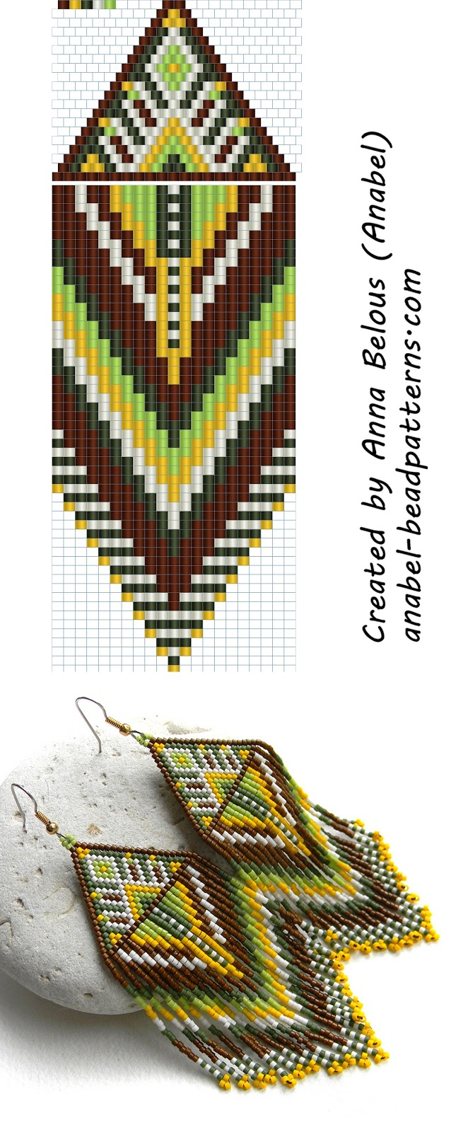 earrings pattern peyote pattern beadwork brick stitch earrings fringe beadwoven earrings