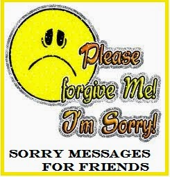 Am sorry message to a friend