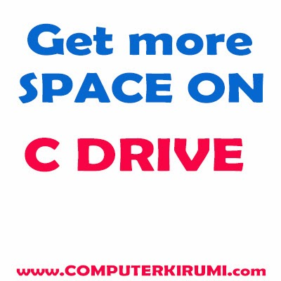 How To Get more FREE SPACE ON C DRIVE