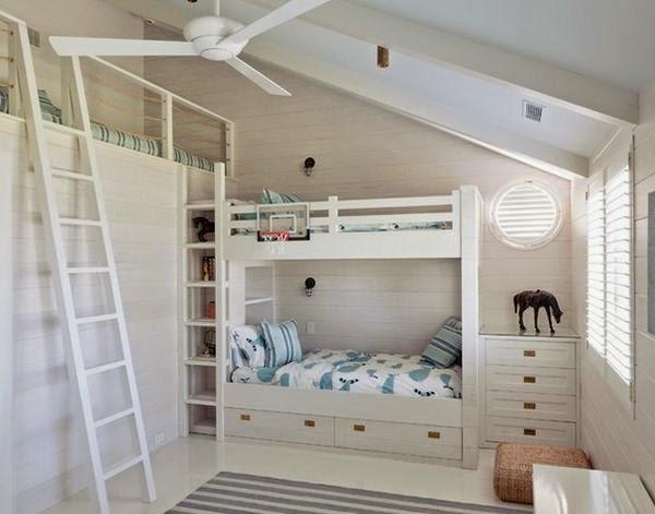Dormitorio tres niños: habitación para tres   qui  n dijo que no ...