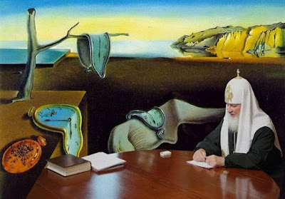 the patriarch and his missing watch shopped into Dali's Persistence of Memory