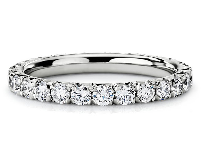 French Pavé Diamond Eternity Ring
