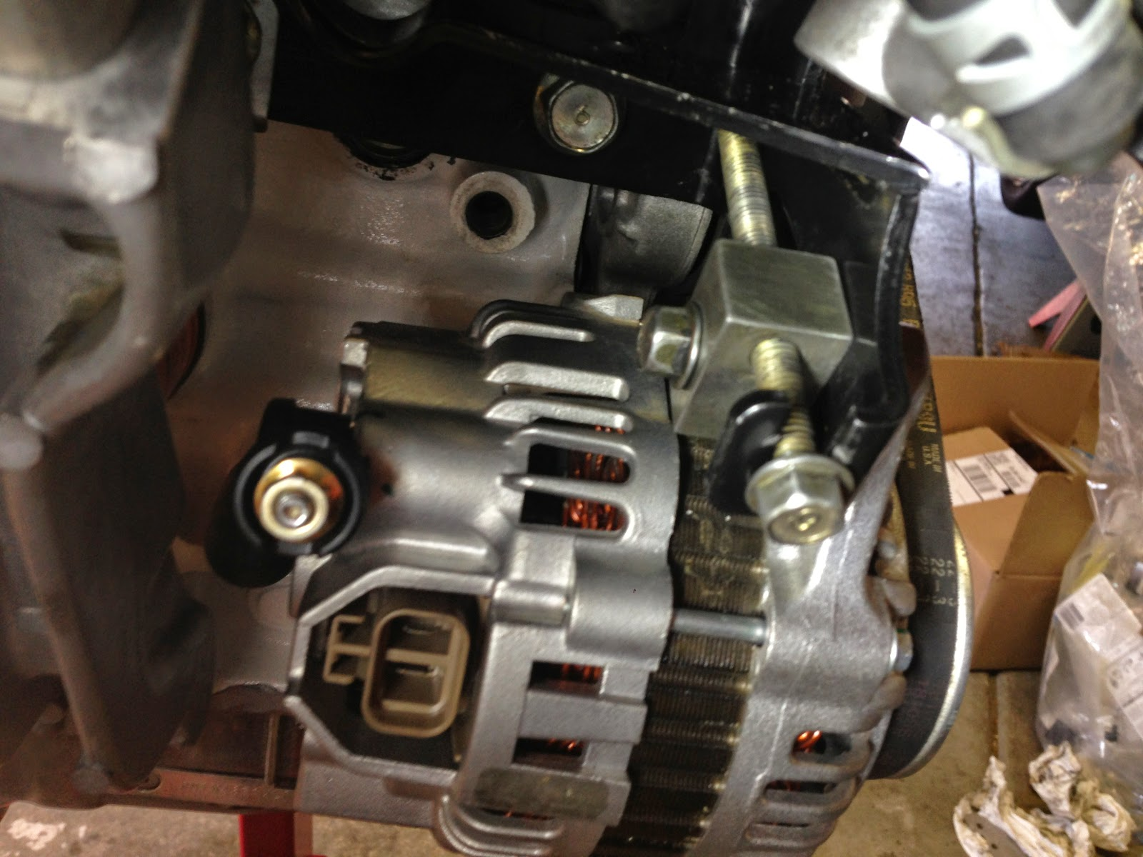 A Newbies Adventures In Racing Lessons Learned Rebuilding 99 Miata Fuel Filter Location On Bolted Up The Attachment Points For Engine Hoist