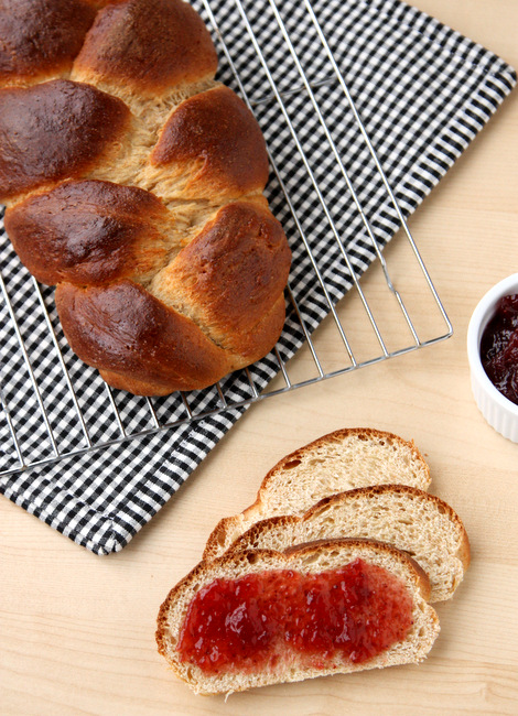 Easy homemade Challah bread -- perfect for paninis, french toast, or just eating with jam