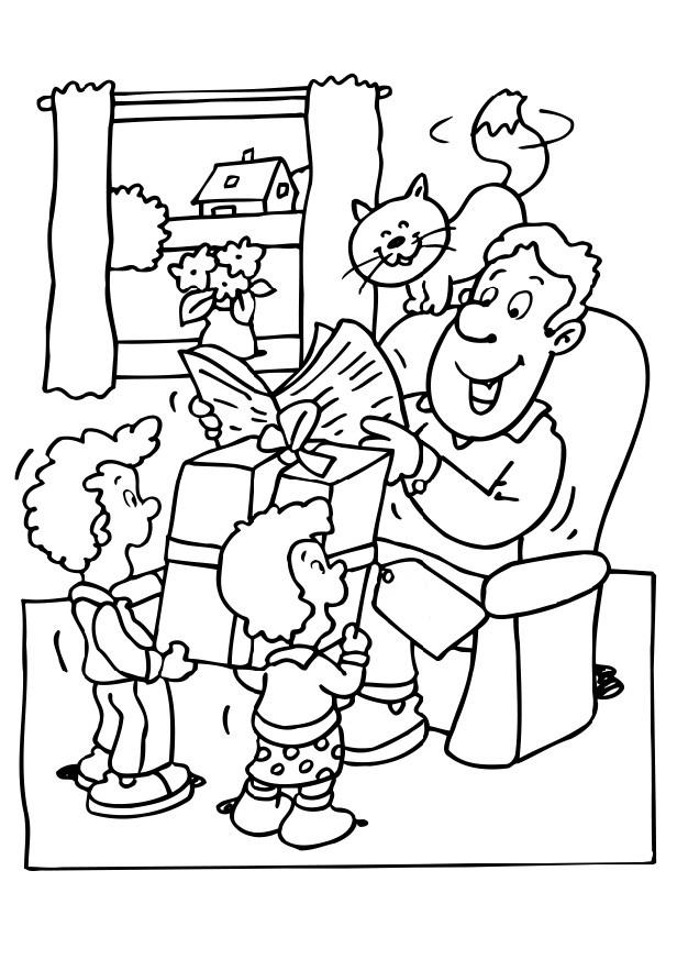 fahers day coloring pages - photo#23