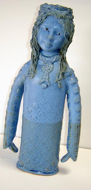 2 Headed Blue Goddess Candlestick